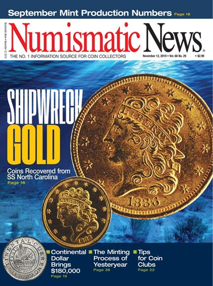 Numismatic News Cover - 11/12/2019