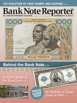 Bank Note Reporter Magazine | 11/2019 Cover