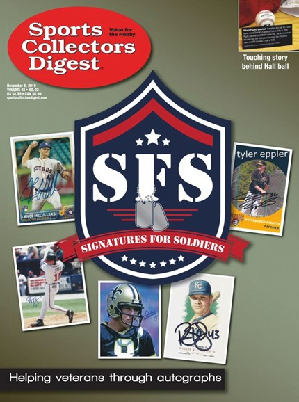 Sports Collectors Digest Cover - 11/8/2019