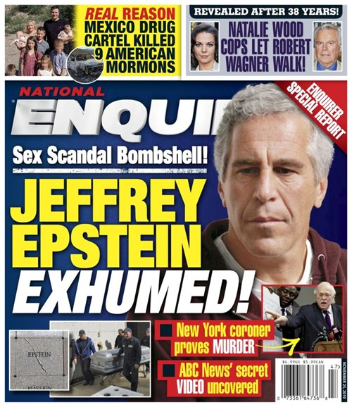 National Enquirer Cover - 11/25/2019
