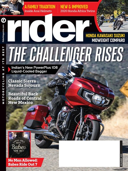 Rider Cover - 12/1/2019