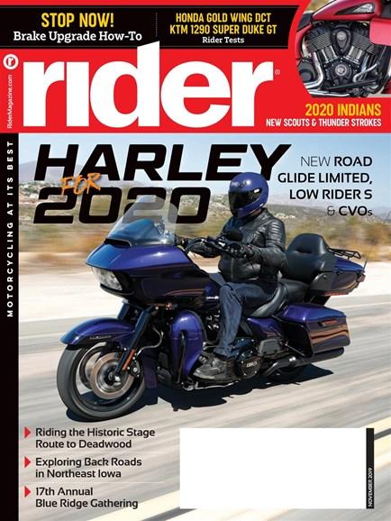 Rider Cover - 11/1/2019