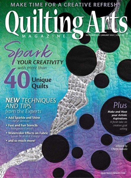 Quilting Arts Cover - 12/1/2019