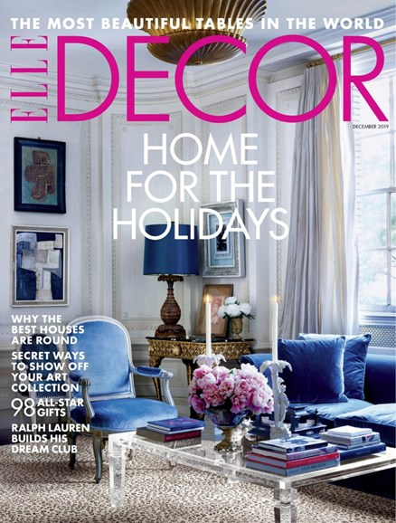 ELLE DECOR Cover - 12/1/2019