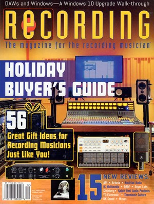 Recording Magazine | 12/2019 Cover