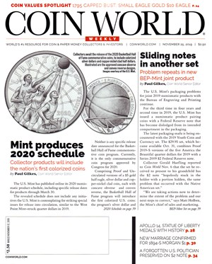 Coin World Magazine | 11/25/2019 Cover