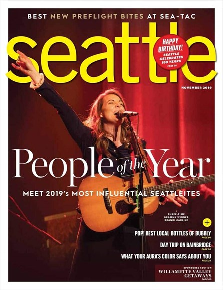 Seattle Magazine Cover - 11/1/2019