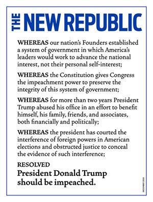 The New Republic Magazine | 12/2019 Cover