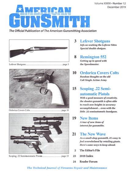American Gunsmith Cover - 12/1/2019