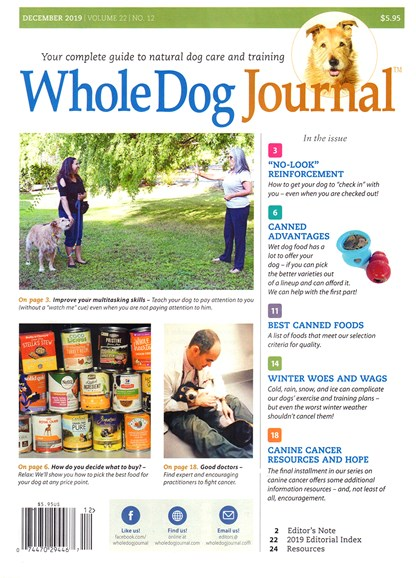Whole Dog Journal Cover - 12/1/2019