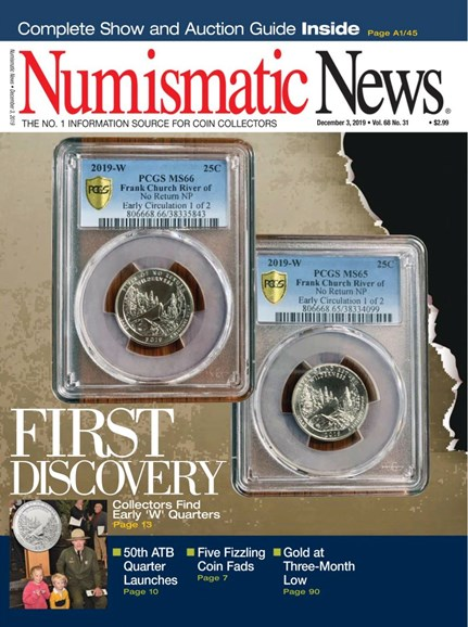 Numismatic News Cover - 12/3/2019