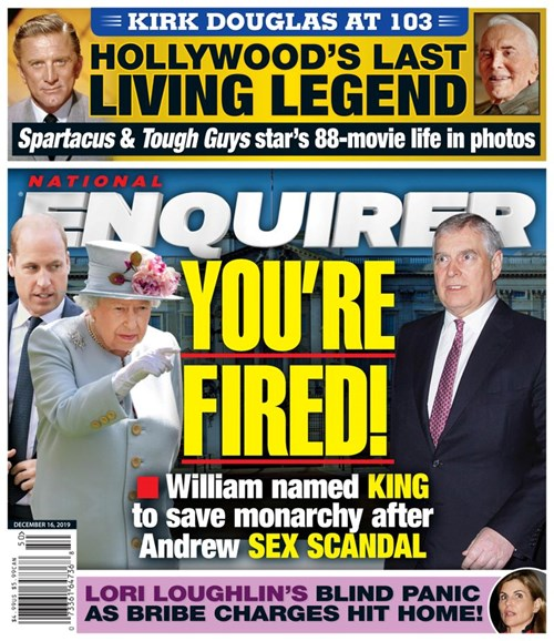 National Enquirer Cover - 12/16/2019