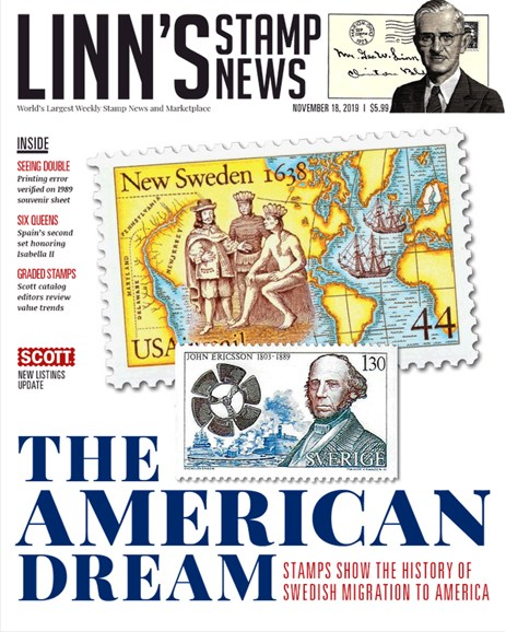 Linn's Stamp News Monthly Cover - 11/18/2019