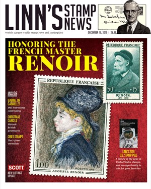Linn's Stamp News Magazine | 12/16/2019 Cover