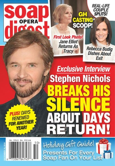 Soap Opera Digest Cover - 12/16/2019
