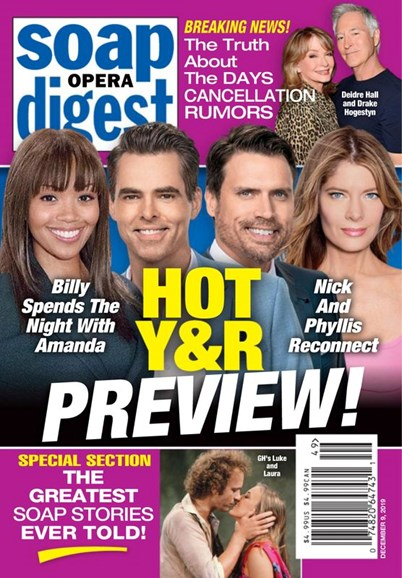 Soap Opera Digest Cover - 12/9/2019
