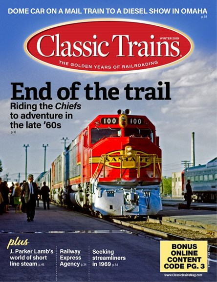 Classic Trains Cover - 12/1/2019
