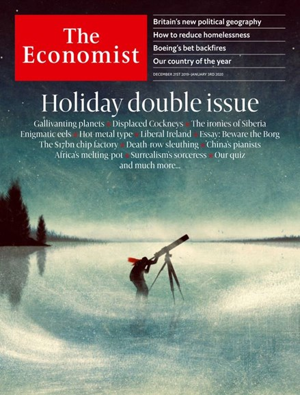 The Economist Cover - 12/21/2019