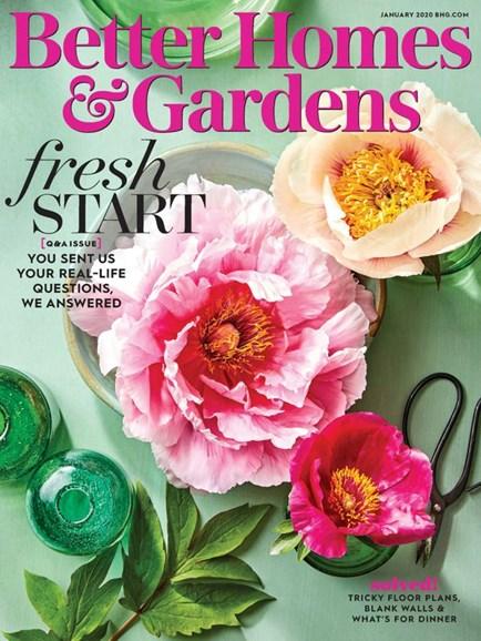 Better Homes & Gardens Cover - 1/1/2020