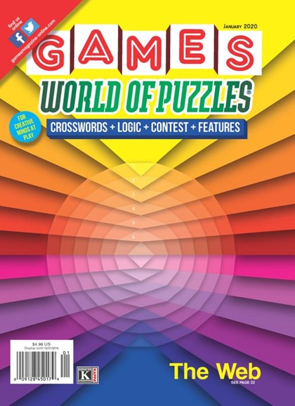 Games World of Puzzles Cover - 1/1/2020