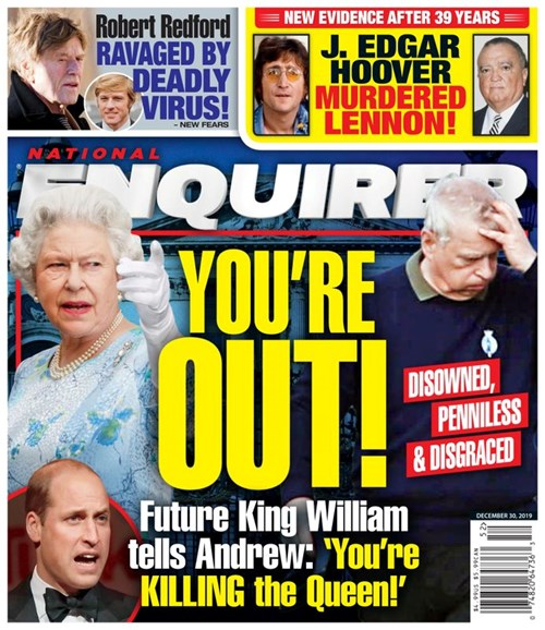 National Enquirer Cover - 12/30/2019