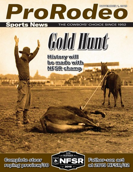 Pro Rodeo Sports News Cover - 11/1/2019