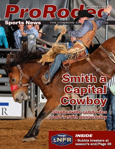 Pro Rodeo Sports News Cover - 10/4/2019