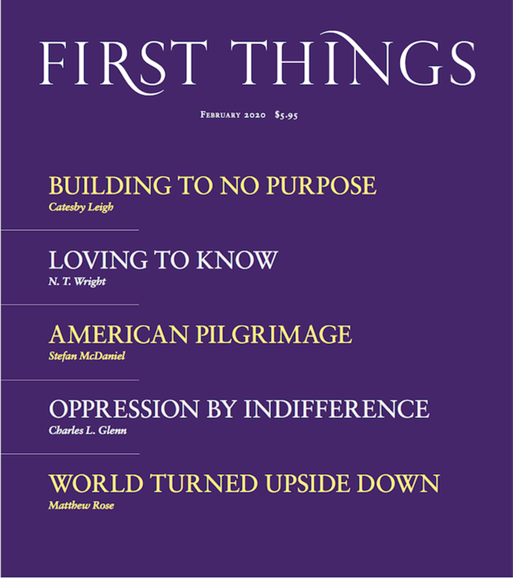 First Things Cover - 2/1/2020