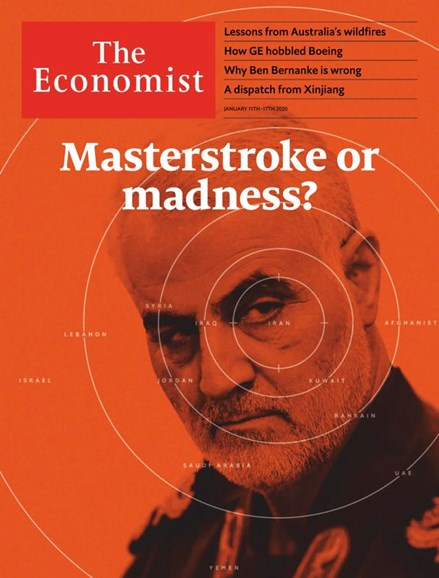 The Economist Cover - 1/11/2020