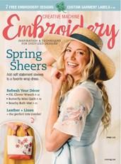 Creative Machine Embroidery | 3/2020 Cover
