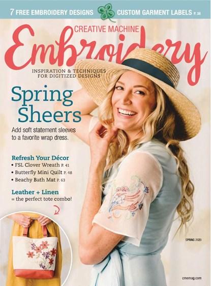 Creative Machine Embroidery   3/2020 Cover