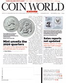 Coin World Magazine 12/30/2019