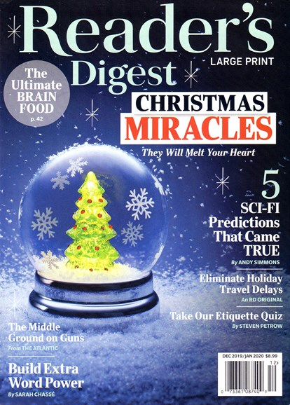 Reader's Digest - Large Print Edition Cover - 12/1/2019