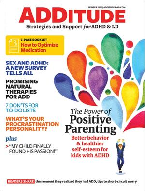 ADDitude Magazine   12/2019 Cover