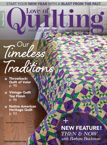 Fons & Porter's Love of Quilting | 1/2020 Cover