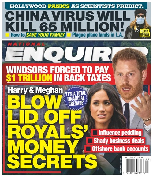 National Enquirer Cover - 2/17/2020