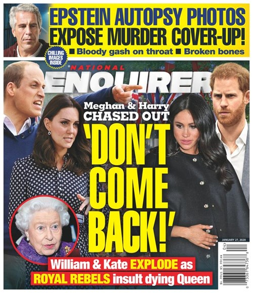 National Enquirer Cover - 1/27/2020