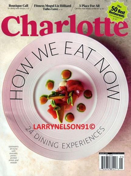 Charlotte Magazine Cover - 1/1/2020