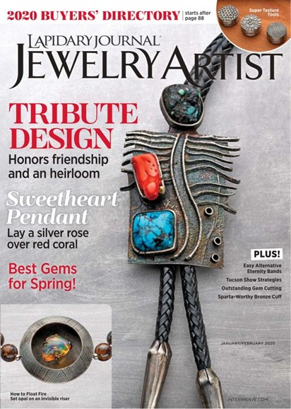 Lapidary Journal Jewelry Artist Cover - 1/1/2020