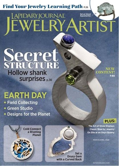 Lapidary Journal Jewelry Artist Cover - 3/1/2020