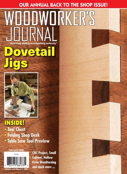 Woodworker's Journal Cover - 2/1/2020