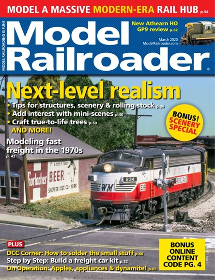 Model Railroader Cover - 3/1/2020