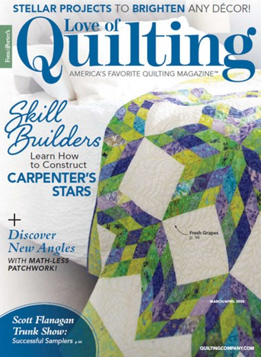 Fons & Porter's Love of Quilting   3/2020 Cover