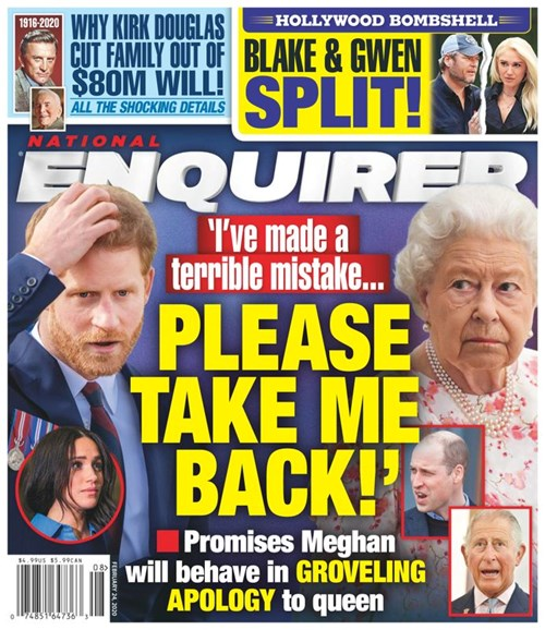 National Enquirer Cover - 2/24/2020