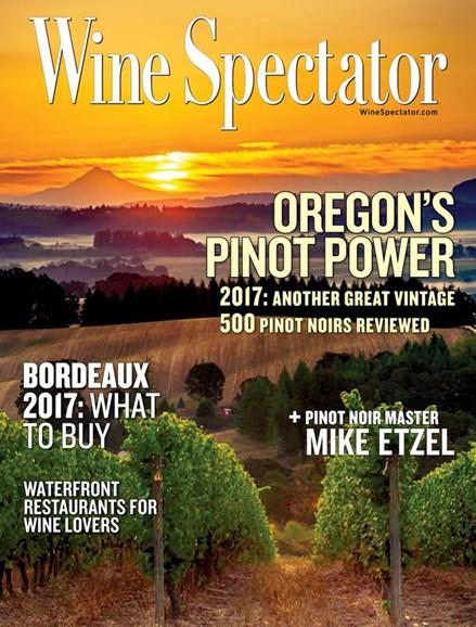 Wine Spectator Cover - 3/31/2020