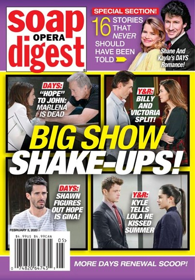 Soap Opera Digest Cover - 2/3/2020