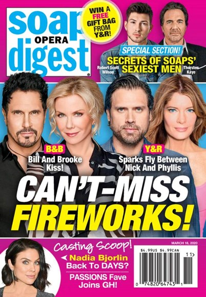 Soap Opera Digest Cover - 3/16/2020