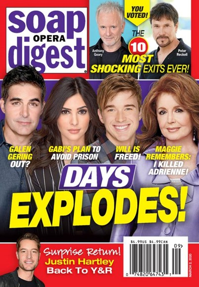 Soap Opera Digest Cover - 3/2/2020