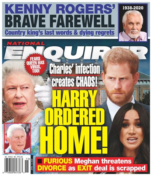 National Enquirer Cover - 4/13/2020