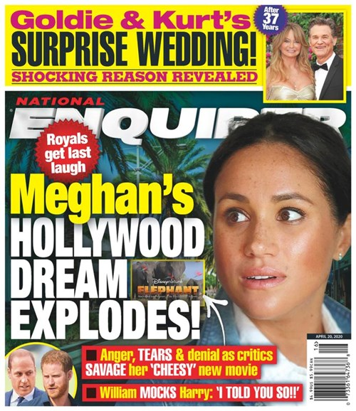 National Enquirer Cover - 4/20/2020